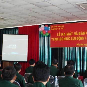 Lễ ra mắt sản phẩm tại Xí Nghiệp Tăng Thiết Giap-KCN Long Bình - Bộ Quốc Phòng