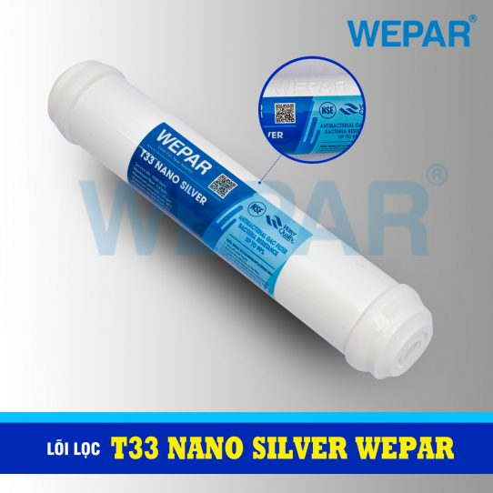 lõi lọc nước t33 nano silver wepar