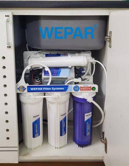 máy lọc nước dưới bồn rửa chén bát wepar