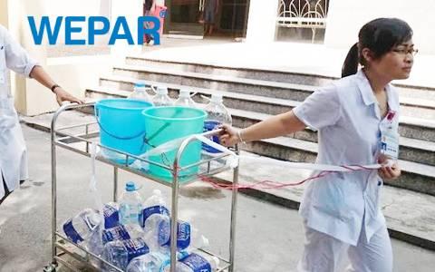 bệnh viện lắp đặt hệ thống lọc nước sạch thay vì dùng nước đóng bình